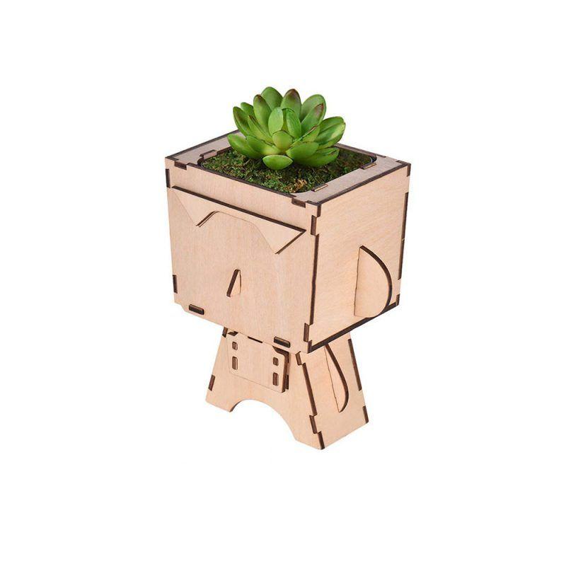 Macetas desmontables de madera